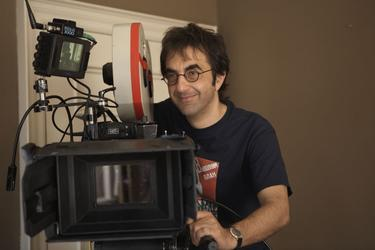 Director Atom Egoyan on the set of &quot;Adoration.&quot;